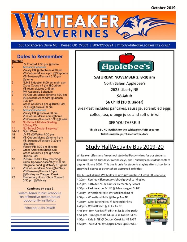 October Wolverine Newsletter